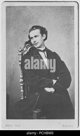 Albert, Joseph - Porträtstudie von König Ludwig II. (2) - Stock Photo