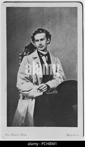 Albert, Joseph - Porträtstudie von König Ludwig II. (1) - Stock Photo