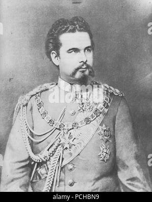 Albert, Joseph - König Ludwig II. in der bayrischen Generalsuniform - Stock Photo