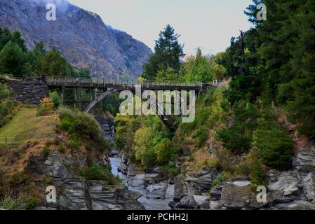Queenstown, South Island, New Zealand Landscape - Stock Photo