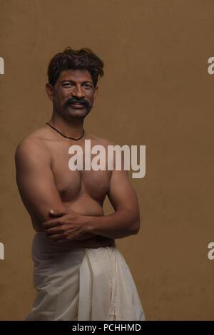 Portrait of male Indian farmer - Stock Photo