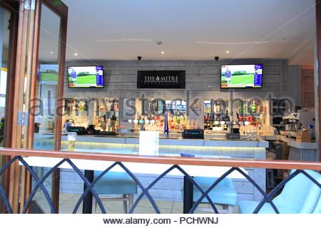 The interior of the Mitre Bar at Exchange Square Manchester UK. Summer August 2018 - Stock Photo