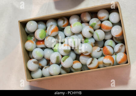 Bright Colorful Marble Balls Toys in view - Stock Photo