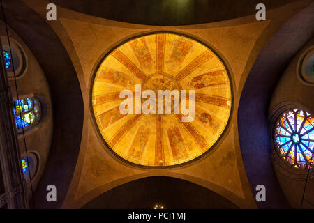 The cupola of Saint Etienne cathedral of Cahors, Lot department, Occitnie, France, Europe - Stock Photo