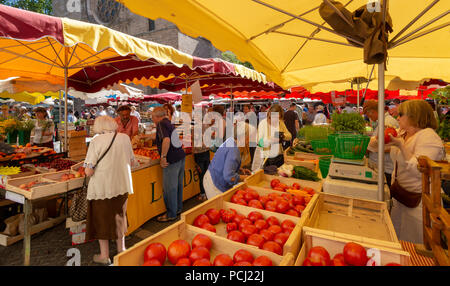 Market of Cahors, Lot department, Occitanie, France, Europe - Stock Photo