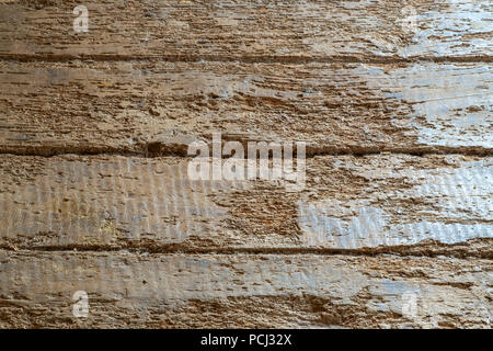 Massive old French farmhouse wooden floor boards after restoration. Full frame background texture close up details. - Stock Photo