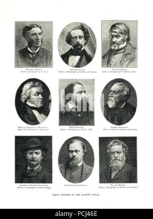Great writers of the Victorian era - Stock Photo