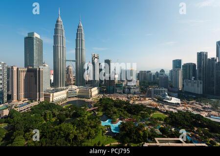 Kuala lumpur skyline in the morning, Malaysia, Kuala lumpur is capital city of Malaysia - Stock Photo