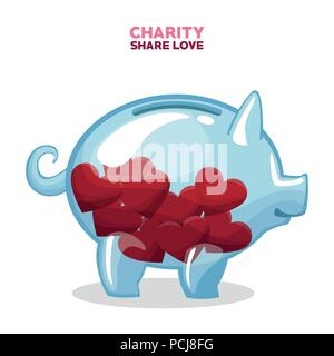 Charity share and love - Stock Photo