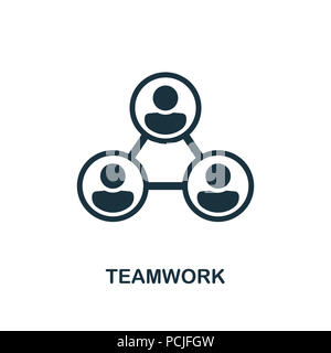 Teamwork creative icon. Simple element illustration. Teamwork concept symbol design from human resources collection. Can be used for web, mobile and p - Stock Photo