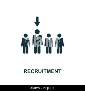 Recruitment creative icon. Simple element illustration. Recruitment concept symbol design from human resources collection. Can be used for web, mobile - Stock Photo