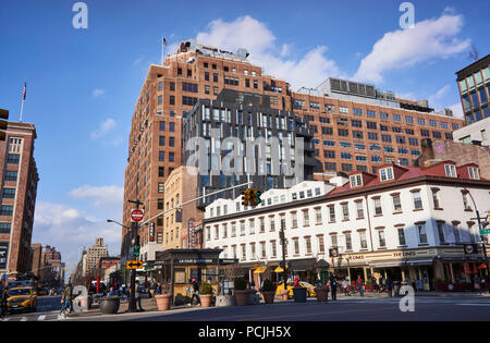Intersection of 14th Street, 9th Avenue and Hudson Street in the Meatpacking District in NYC - Stock Photo