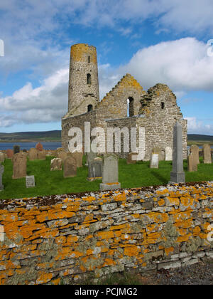 St Magnus church, Egilsay, Orkney - Stock Photo