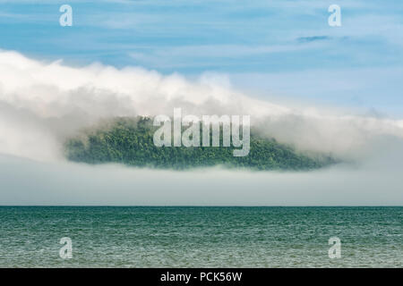 Fog, Grand Portage Bay, Summer, Grand Portage Indian Reservation, Cook Co, MN, USA, by Dominique Braud/Dembinsky Photo Assoc - Stock Photo