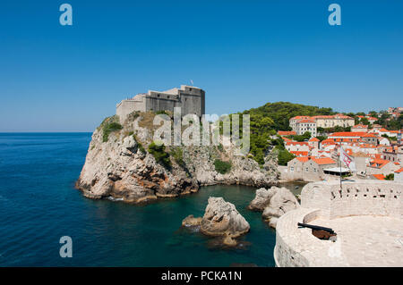 The Walled City of Dubrovnic in Croatia Europe It is one of the most delightful tourist resorts of the Mediterranean. Dubrovnik is nicknamed 'Pearl of - Stock Photo