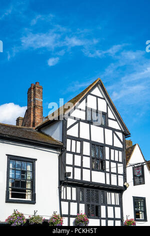 Tall Tudor style building in Salisbury UK - Stock Photo