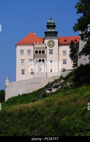 Historic  Pieskowa Skala Castle near Krakow in Poland July 2018 - Stock Photo