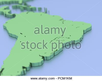 Map of Africa, white, geographical map. Cartography, geographical atlas. 3d rendering - Stock Photo
