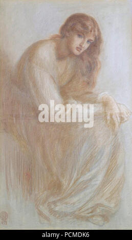Alexa Wilding (1879) by Dante Gabriel Rossetti. - Stock Photo