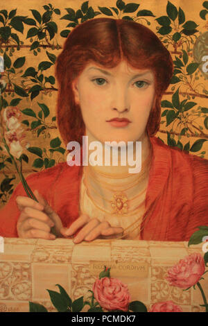 Alexa Wilding ... Regina Cordium - Alice Wilding by Dante Gabriel Rossetti. - Stock Photo