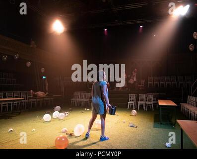 Edinburgh, Scotland, UK; 3 August, 2018. Midsummer play preview at The Hub festival theatre as part of the Edinburgh International Festival. Credit: Iain Masterton/Alamy Live News - Stock Photo