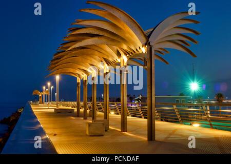 Muelle Levante Pier, Alicante, Spain - Stock Photo