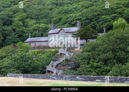 The Quarry Hospital at the National Slate Museum in Dinorwic, near Llanberis in Snowdonia, North Wales. - Stock Photo