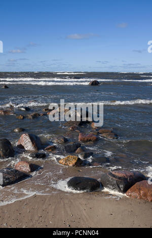 Area around Tahkuna Lighthouse on Hiiumaa island is the second largest island in Estonia, in the Baltic Sea. - Stock Photo