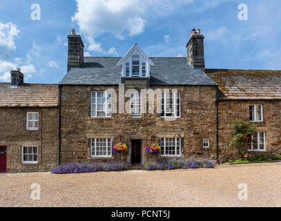 The Angel Annex a former pub now part of The Lord Crewe Arms in Blanchland a picturesque and historic village in Northumberland in North East England - Stock Photo