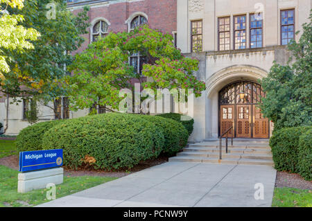 ANN ARBOR, MI/USA - OCTOBER 20, 2017: Michigan League building on the campus of the University of Michigan. - Stock Photo