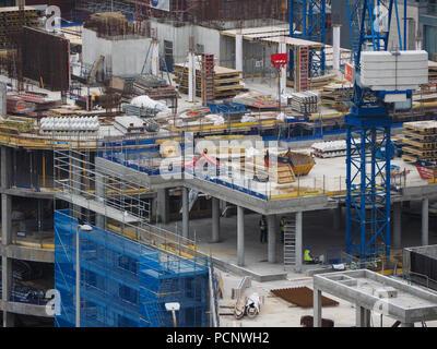 EDINBURGH, UK - CIRCA JUNE 2018: building site - Stock Photo