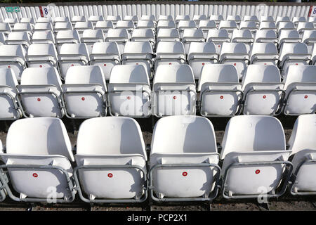 General view of empty seats in the ground ahead of Essex CCC vs Worcestershire CCC, Specsavers County Championship Division 2 Cricket at the Essex Cou - Stock Photo