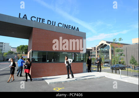 September 21, 2012 - Saint-Denis, France: French filmmaker Luc Besson unveils his 'cinema city' (Cite du Cinema) on the edge of Paris. The 170-million-euros project is the largest film studio facility ever built in France, which earned it the nickname 'Hollywood on Seine'. The former art deco power station compound houses nine state-of-the-art film sets, 20,000sq metres of office, and several carpentry, model-making, and costume workshops *** FRANCE OUT / NO SALES TO FRENCH MEDIA *** - Stock Photo