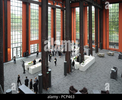 September 21, 2012 - Saint-Denis, France: French filmmaker Luc Besson unveils his 'cinema city' (Cite du Cinema) on the edge of Paris. The 170-million-euros project is the largest film studio facility ever built in France, which earned it the nickname 'Hollywood on Seine'. The former art deco power station compound houses nine state-of-the-art film sets, 20,000sq metres of office, and several carpentry, model-making, and costume workshops. *** FRANCE OUT / NO SALES TO FRENCH MEDIA *** - Stock Photo