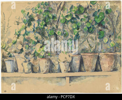 The flower pots, ca 1883-1887. Found in the Collection of Musée d'Orsay, Paris. - Stock Photo