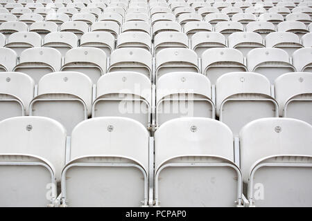 General view of the empty seats ahead of Middlesex vs Essex Eagles, NatWest T20 Blast Cricket at Lord's Cricket Ground on 28th July 2016 - Stock Photo