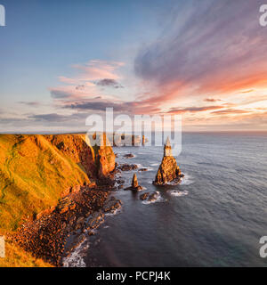 Sunrise at Stacks of Duncansby, Duncansby Head, Caithness, Scotland, UK - Stock Photo