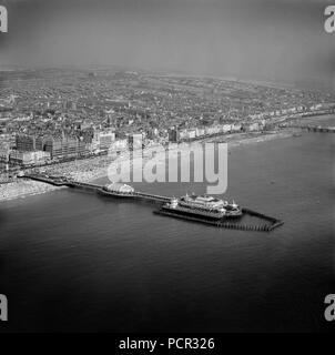 West Pier, Brighton, Sussex, 1949. Artist: Aerofilms. - Stock Photo