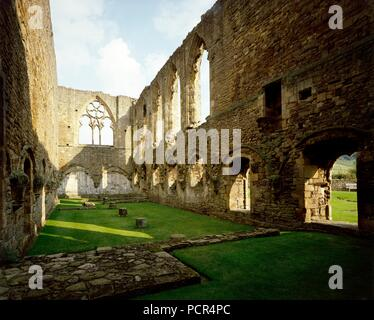 Easby Abbey, near Richmond, North Yorkshire, c1980-c2017.  Artist: Unknown. - Stock Photo