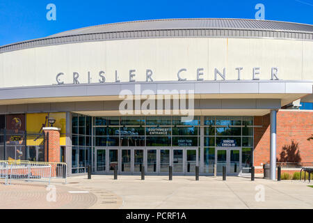 ANN ARBOR, MI/USA - OCTOBER 20, 2017:  Crisler Center on the campus of the University of Michigan. - Stock Photo
