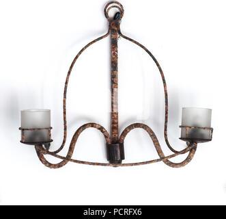 Old vintage metal lamp - Stock Photo