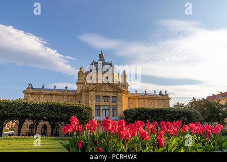 King Tomislav park in Zagreb on a sunny day - Stock Photo