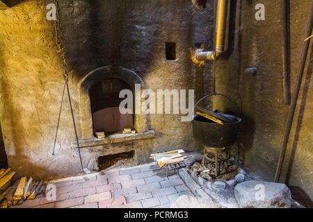 Kitchen in the old farm house - Stock Photo