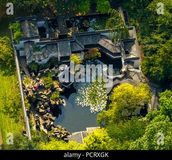 Chinese Garden in the Botanical Garden of the RUB, Ruhr University Bochum, Bochum, Ruhr area, North Rhine-Westphalia, Germany - Stock Photo