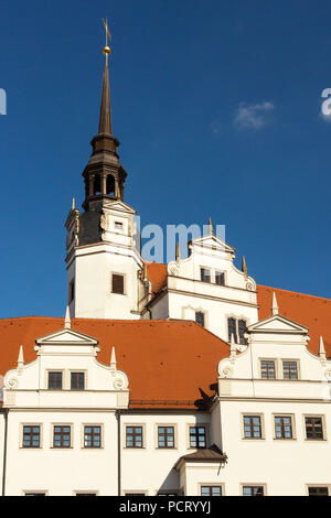 Elbe Cycletour, Saxony, Torgau, Hartenfels Castle - Stock Photo