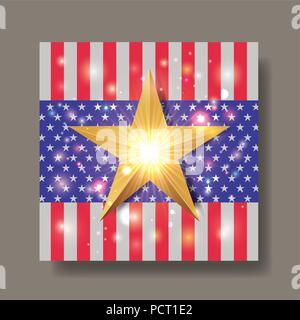united states of america emblem - Stock Photo