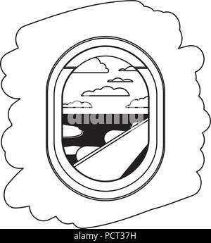 Airplane Window With Exterior View Stock Vector Image Art Alamy