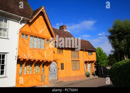 Little Hall House and Garden Market Place Lavenham Suffolk UK 2018 - Stock Photo