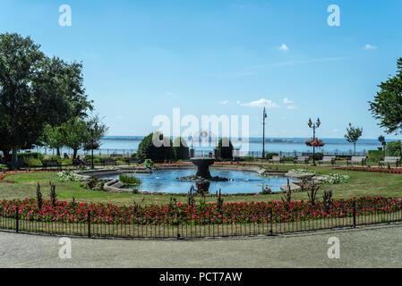 Prittlewell square, sunny seaside gardens. - Stock Photo
