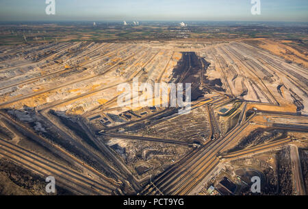 Niederzier opencast lignite mine, Rhineland, North Rhine-Westphalia, Germany - Stock Photo